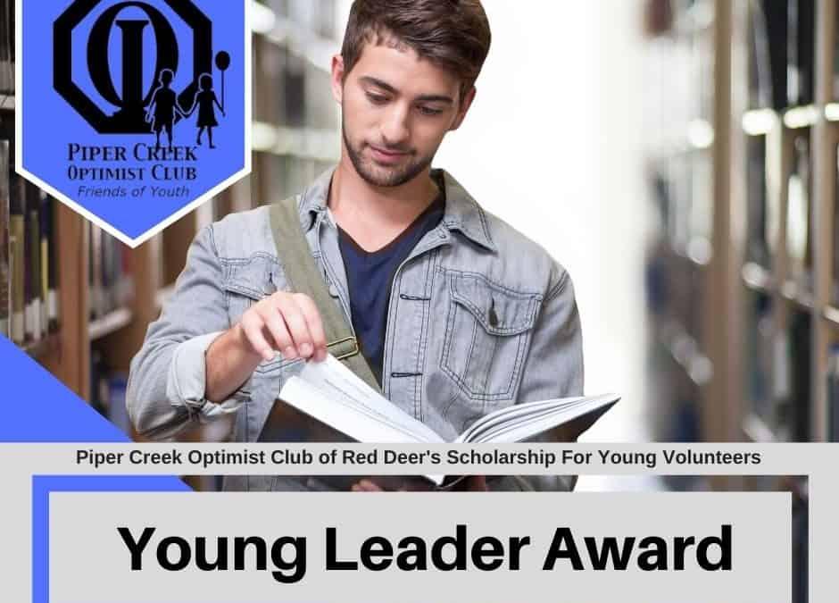 Piper Creek Optimist Club Red Deer Young Leaders Award
